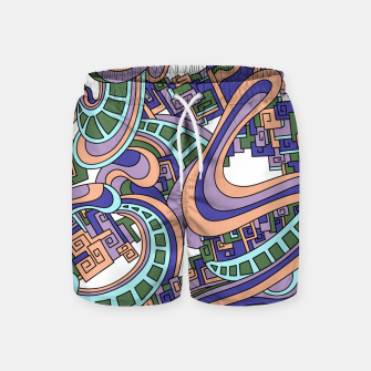 Thumbnail image of Wandering Abstract Line Art 45: Purple Swim Shorts, Live Heroes