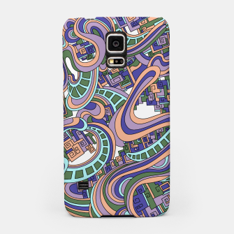 Thumbnail image of Wandering Abstract Line Art 45: Purple Samsung Case, Live Heroes