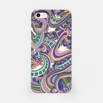 Thumbnail image of Wandering Abstract Line Art 45: Purple iPhone Case, Live Heroes