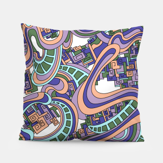 Thumbnail image of Wandering Abstract Line Art 45: Purple Pillow, Live Heroes