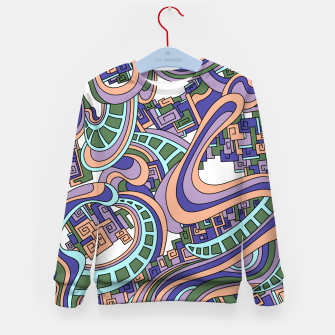 Thumbnail image of Wandering Abstract Line Art 45: Purple Kid's sweater, Live Heroes