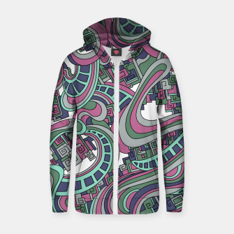 Thumbnail image of Wandering Abstract Line Art 45: Pink Zip up hoodie, Live Heroes