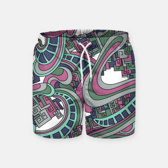 Thumbnail image of Wandering Abstract Line Art 45: Pink Swim Shorts, Live Heroes