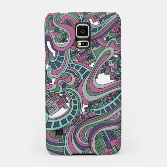 Thumbnail image of Wandering Abstract Line Art 45: Pink Samsung Case, Live Heroes