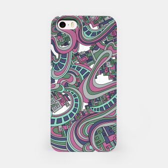 Thumbnail image of Wandering Abstract Line Art 45: Pink iPhone Case, Live Heroes