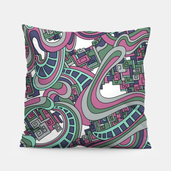 Thumbnail image of Wandering Abstract Line Art 45: Pink Pillow, Live Heroes