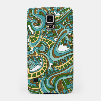 Thumbnail image of Wandering Abstract Line Art 45: Blue Samsung Case, Live Heroes