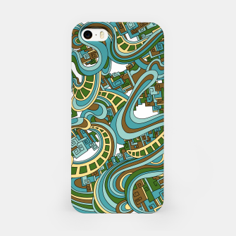 Thumbnail image of Wandering Abstract Line Art 45: Blue iPhone Case, Live Heroes