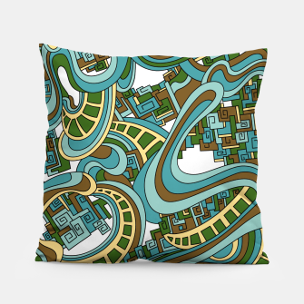 Thumbnail image of Wandering Abstract Line Art 45: Blue Pillow, Live Heroes