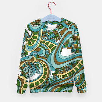 Thumbnail image of Wandering Abstract Line Art 45: Blue Kid's sweater, Live Heroes