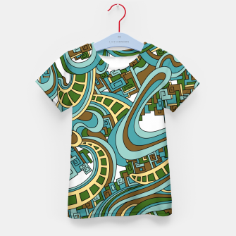 Thumbnail image of Wandering Abstract Line Art 45: Blue Kid's t-shirt, Live Heroes