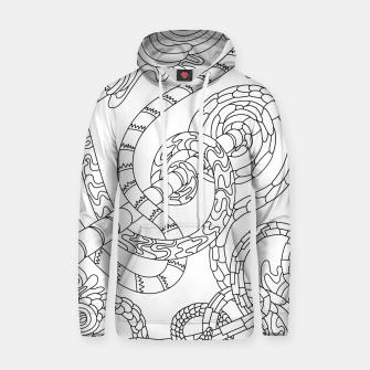 Thumbnail image of Wandering Abstract Line Art 46: Black & White Hoodie, Live Heroes