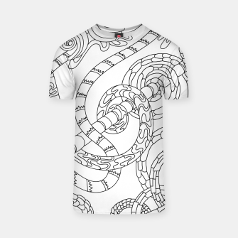 Thumbnail image of Wandering Abstract Line Art 46: Black & White T-shirt, Live Heroes