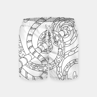 Thumbnail image of Wandering Abstract Line Art 46: Black & White Swim Shorts, Live Heroes