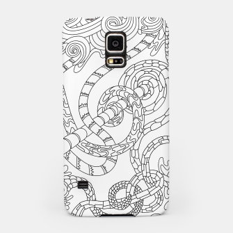 Thumbnail image of Wandering Abstract Line Art 46: Black & White Samsung Case, Live Heroes
