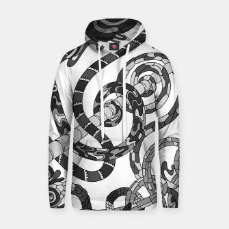 Thumbnail image of Wandering Abstract Line Art 46: Grayscale Hoodie, Live Heroes