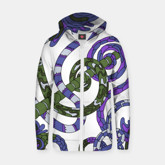 Thumbnail image of Wandering Abstract Line Art 46: Purple Zip up hoodie, Live Heroes