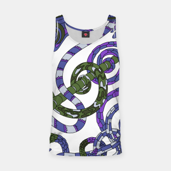 Thumbnail image of Wandering Abstract Line Art 46: Purple Tank Top, Live Heroes
