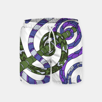 Thumbnail image of Wandering Abstract Line Art 46: Purple Swim Shorts, Live Heroes