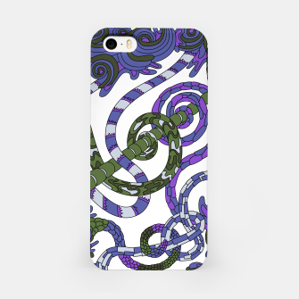 Thumbnail image of Wandering Abstract Line Art 46: Purple iPhone Case, Live Heroes