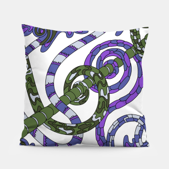 Thumbnail image of Wandering Abstract Line Art 46: Purple Pillow, Live Heroes