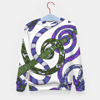 Thumbnail image of Wandering Abstract Line Art 46: Purple Kid's sweater, Live Heroes