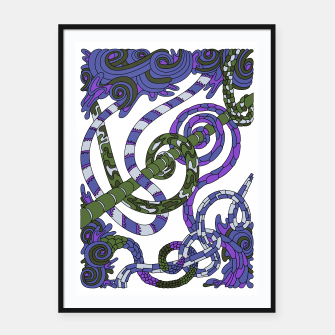 Thumbnail image of Wandering Abstract Line Art 46: Purple Framed poster, Live Heroes