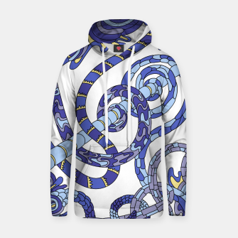 Thumbnail image of Wandering Abstract Line Art 46: Blue Hoodie, Live Heroes