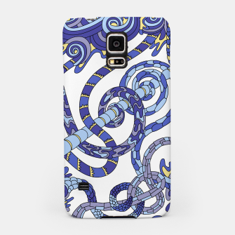 Thumbnail image of Wandering Abstract Line Art 46: Blue Samsung Case, Live Heroes