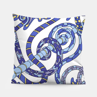 Thumbnail image of Wandering Abstract Line Art 46: Blue Pillow, Live Heroes