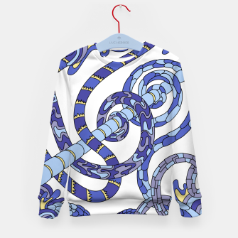 Thumbnail image of Wandering Abstract Line Art 46: Blue Kid's sweater, Live Heroes
