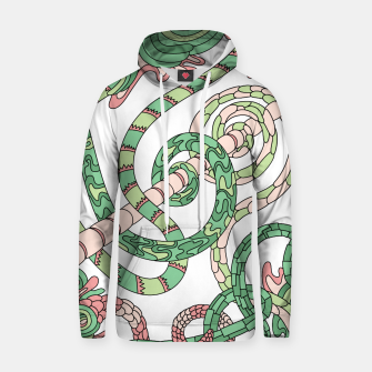 Thumbnail image of Wandering Abstract Line Art 46: Green Hoodie, Live Heroes