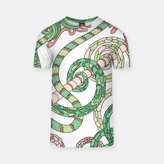Thumbnail image of Wandering Abstract Line Art 46: Green T-shirt, Live Heroes