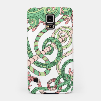 Thumbnail image of Wandering Abstract Line Art 46: Green Samsung Case, Live Heroes