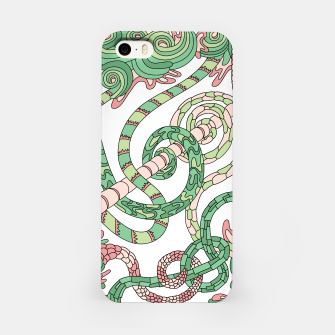 Thumbnail image of Wandering Abstract Line Art 46: Green iPhone Case, Live Heroes