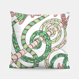 Thumbnail image of Wandering Abstract Line Art 46: Green Pillow, Live Heroes