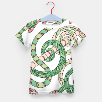 Thumbnail image of Wandering Abstract Line Art 46: Green Kid's t-shirt, Live Heroes