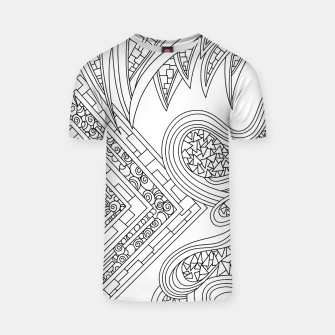 Thumbnail image of Wandering Abstract Line Art 47: Black & White T-shirt, Live Heroes