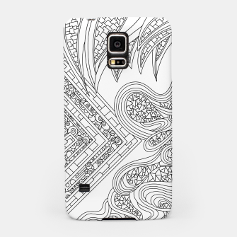 Thumbnail image of Wandering Abstract Line Art 47: Black & White Samsung Case, Live Heroes