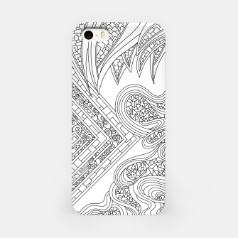 Thumbnail image of Wandering Abstract Line Art 47: Black & White iPhone Case, Live Heroes