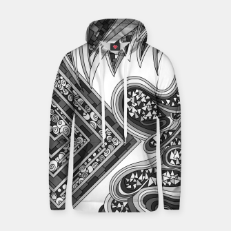 Thumbnail image of Wandering Abstract Line Art 47: Grayscale Hoodie, Live Heroes