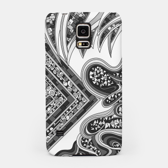 Thumbnail image of Wandering Abstract Line Art 47: Grayscale Samsung Case, Live Heroes