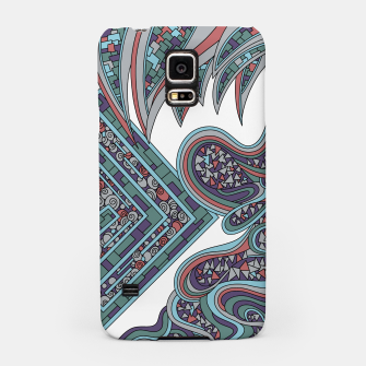 Thumbnail image of Wandering Abstract Line Art 47: Blue Samsung Case, Live Heroes