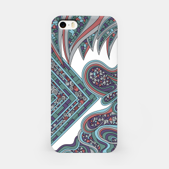 Thumbnail image of Wandering Abstract Line Art 47: Blue iPhone Case, Live Heroes