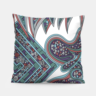 Thumbnail image of Wandering Abstract Line Art 47: Blue Pillow, Live Heroes