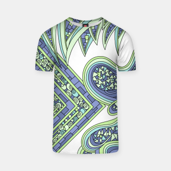 Thumbnail image of Wandering Abstract Line Art 47: Green T-shirt, Live Heroes