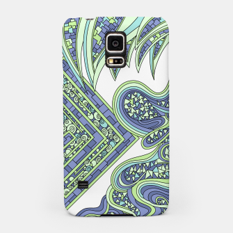 Thumbnail image of Wandering Abstract Line Art 47: Green Samsung Case, Live Heroes