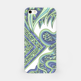 Thumbnail image of Wandering Abstract Line Art 47: Green iPhone Case, Live Heroes