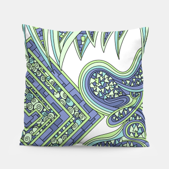 Thumbnail image of Wandering Abstract Line Art 47: Green Pillow, Live Heroes
