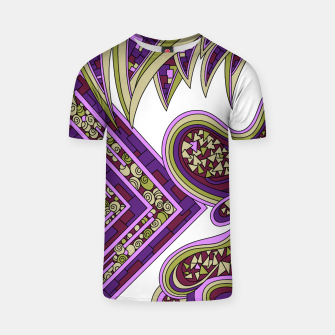 Thumbnail image of Wandering Abstract Line Art 47: Purple T-shirt, Live Heroes